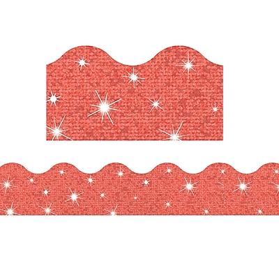 Trend Enterprises® Toddler - 6th Grade Terrific Trimmer, Solid Coral Sparkle, 10/Pack