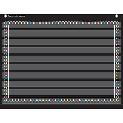 Teacher Created Resources 10 Pocket Pocket Chart, Chalkboard Brights (TCR20774)