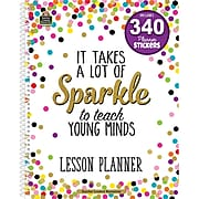 """Teacher Created Resources Confetti Lesson Planner with 340 Planner Stickers, 8.5"""" x 11"""" (TCR2152)"""