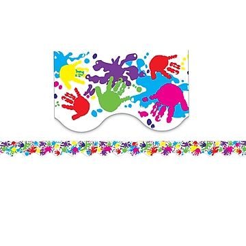 Teacher Created Resources TCR4138 35  x 2.187  Scalloped Helping Hands Border Trim, Multicolor