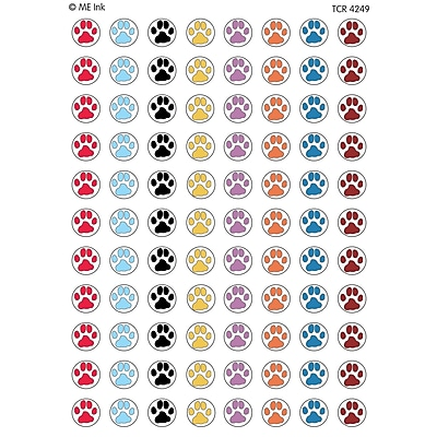 Teacher Created Resources Puppy Paw Prints Mini Stickers, 3/8