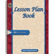 Lesson Plan Book, 40 Weeks, 2 EA/BD