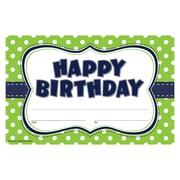 "Teacher Created Resources ""Happy Birthday"" Award, Lime Polka Dots (TCR4771)"