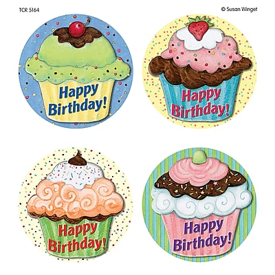 Teacher Created Resources Cupcake Wear'Em Badge From Susan Winget, 32/Pack