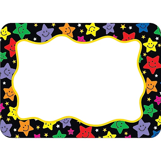 Teacher Created Resources Infant - 6 Grade Name Tag, Happy Stars, 36/Pack