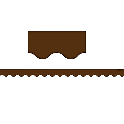 Teacher Created Resources® Chocolate Scalloped Border Trim (Solid)
