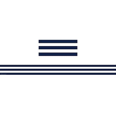Teacher Created Resources® Navy Blue And White Stripes Straight Border Trim