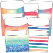 Teacher Created Resources® Watercolor Library Pockets, Pack of 105 (TCR5816)