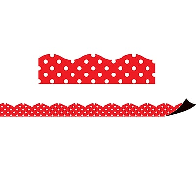 Teacher Created Resources Red Polka Dots Magnetic Border (TCR77255)