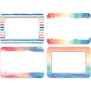 """Teacher Created Resource 3.5""""w x  2.5""""h Watercolor Labels 108ct (TCR8968)"""