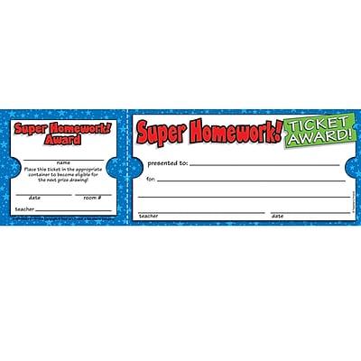 Ticket Awards, Super Homework!