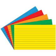 """Top Notch Teacher Products® 4"""" x 6"""" Lined Border Index Card, Primary Colors, 2/Bd"""