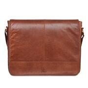 Mancini – Sac messager 1410-01-Cognac pour tablette/portatif de 15 po, 15,5 x 3 x 13 (po), Cognac