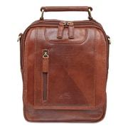 """Mancini 1410-08-Cognac Large Unisex Bag 8 x 3.5 x 10.25"""", Cognac"""