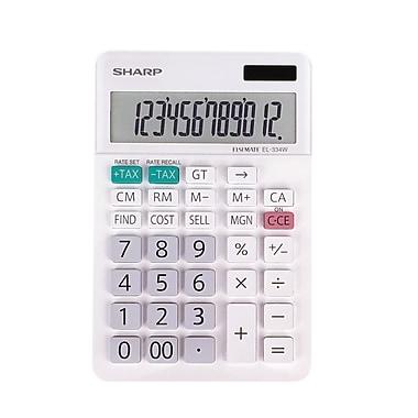 Sharp - Calculatrice de table commerciale à gros écran, 12 chiffres (EL334WB)