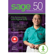 Sage 50 Pro Accounting with Payroll 2019, 1-Year Subscription [Download]