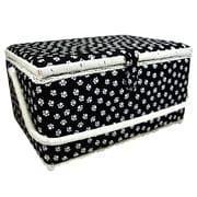"Vivace Large Sewing Basket, White Paw, 15"" x 10"" x 8"" (3025650)"