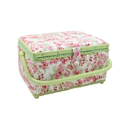 "Vivace Medium Sewing Basket, Rose Bouquet, 10"" x 7-1/2"" x 5-3/4"" (3025621)"