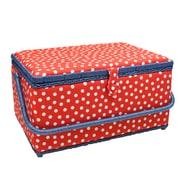 "Vivace Large Sewing Basket, Polka Dots, 15"" x 10"" x 8"" (3025660)"