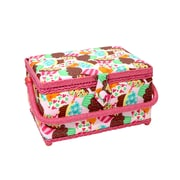 "Vivace Medium Sewing Basket, Cupcakes, 10"" x 7-1/2"" x 5-3/4"" (30256240)"
