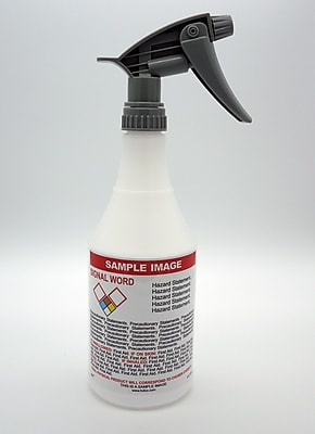 HCL 24 oz. Spray Bottle, Pre-Labeled