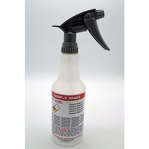 HCL 16 oz  Spray Bottle, Pre-Labeled