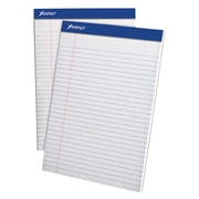 Ampad Perforated Pads, Wide Rule, Micro Perf, 50 Sheets/Pad, Letter, White