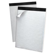 Ampad Gold Fibre Perforated Writing Pads, Micro-Perf, Quad Rule, 80 Sheets/Pad, Letter, White