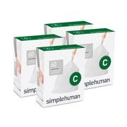 simplehuman® - Sac à ordures sur mesure, blanc