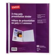 Staples® - Reliure de présentation en poly à 3 anneaux, 5/8 po, blanc