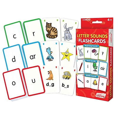 Letter Sounds Flash Cards for ages 4+, 1 pack of 162 cards (JRL202)