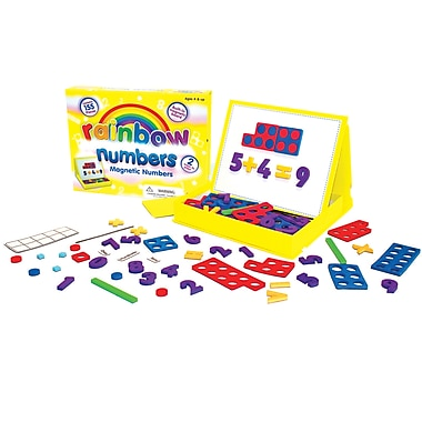 Junior Learning Rainbow Numbers Magnetic Numbers, Grade K - 2, 155/Set (JRL195)