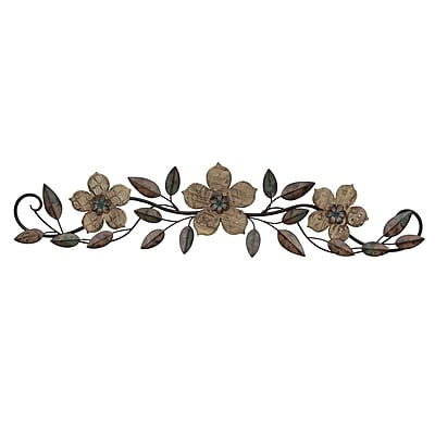 Stratton Home Decor Floral Patterned Wood Over the Door Wall Décor (S01207)