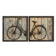 Stratton Home Decor Set of 2 Rustic Bicycle Wall Décor (S01209)