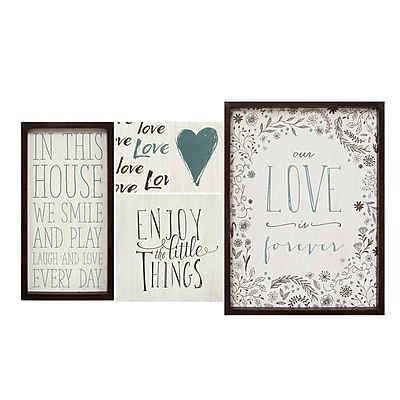 Stratton Home Decor Love is Forever Wall Art (Set of 5) (S01953)