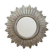"Stratton Home Decor Madilyn Wood Mirror 29.13""H x 29.13""W (S02379)"