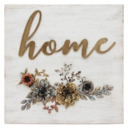"Stratton Home Decor ""Home"" Cottage Wall Décor, 15.75""H x 15.75""W (S07647)"