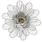 Stratton Home Decor Galvanized Daisy Wall Décor (S07658)