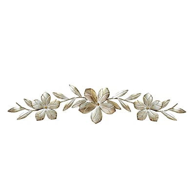 Stratton Home Decor Champagne Flower Over the Door Wall Décor (S07705)