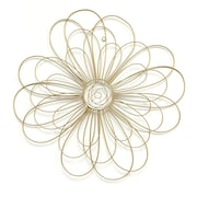 Stratton Home Decor Gold Wire Flower Wall Décor (S07729)