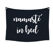 "Stratton Home Decor ""Namaste in bed"" Wall Tapestry 30""H x 40""W (S07750)"