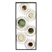 "Stratton Home Decor Geometric Rings Panel Wall Décor, 32""H x 14""W (S09548)"