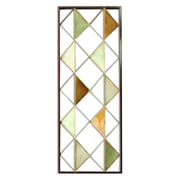 "Stratton Home Decor Multi Triangle Panel Wall Décor, 34.06""H x 12.01""W (S09549)"