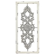 "Stratton Home Decor Grey Scroll Panel Wall Décor, 16""H x 36""W (S09573)"