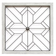 "Stratton Home Decor Square Metal and Wood Art Deco Wall Décor, 26.00""H x 26.00""W (S09600)"