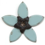 "Stratton Home Decor Blue Antique Flower Wall Décor, 13.98""H x 14.75""W (S09614)"