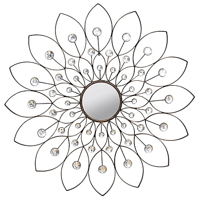 Stratton Home Decor, Decorative Flower Mirror (SHD0010)