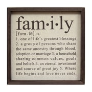 "Stratton Home Decor Definition of Family Wall Décor, 16""H x 16""W (SHD0083)"