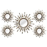 "Stratton Home Decor Set of 5 Burst Wall Mirrors 21""H x 39""W (SHD0087)"