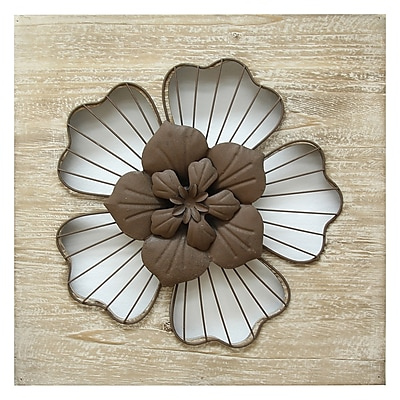 Stratton Home Decor Rustic Flower Wall Décor (SHD0168)